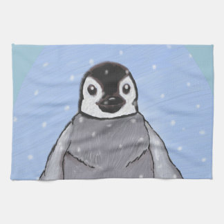Baby penguin. tea towel