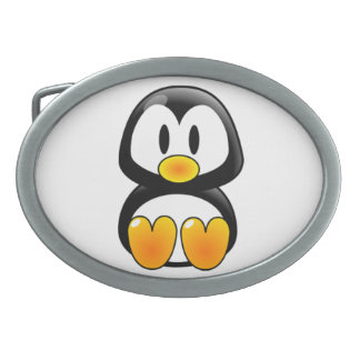 baby penguin tux belt buckle