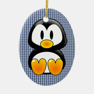 baby penguin tux christmas ornament