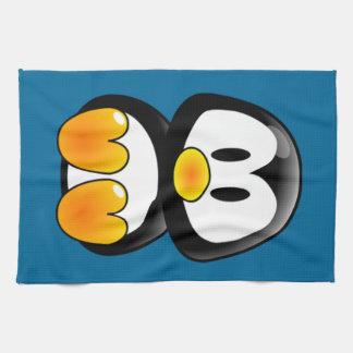 baby penguin tux kitchen towel
