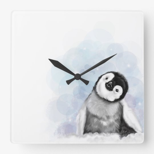 Baby Penguin Wall Clock