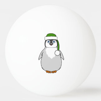 Baby Penguin with Green Santa Hat