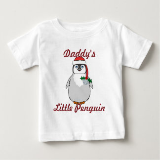 Baby Penguin with Red Santa Hat & Silver Bell Tshirts