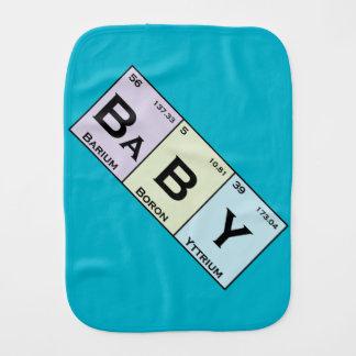 BaBY periodic elements burp cloth
