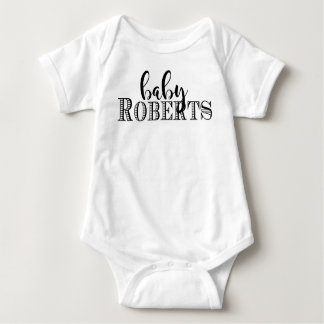 Baby personalized name one piece baby bodysuit