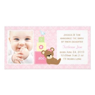 Baby Photo Announcement Custom Photo Card