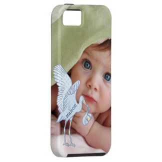 Baby Photo Baby Blue Stork iPhone iPhone 5 Covers
