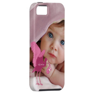 Baby Photo Baby Stats Damask Burnt Edge iPhone iPhone 5 Cover