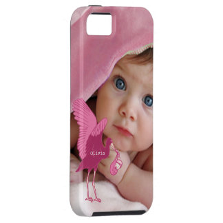 Baby Photo Baby Stats Damask Burnt Edge iPhone Tough iPhone 5 Case