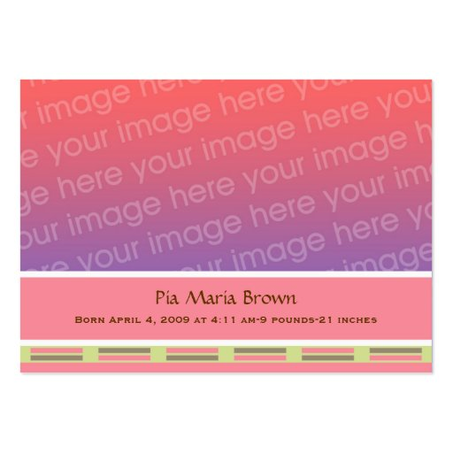 Baby Photo Birth Announcements Business Card Template