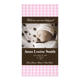 BABY PERSONALIZED PHOTO CARD