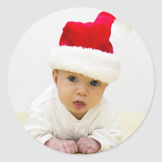 Baby Photo Christmas Sticker