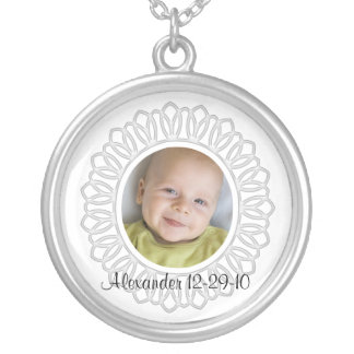Baby Photo Gift Necklace with Text