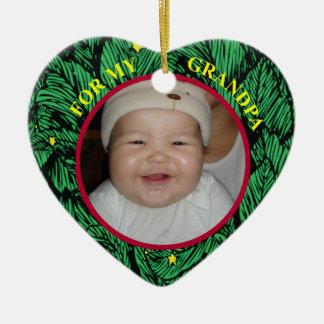 Baby Photo Gift Tag & Ornament FOR Grandpa