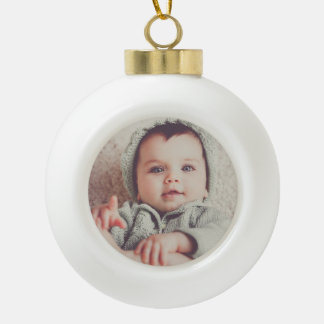 Baby Photo Round Ball Ornament