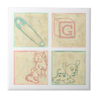 Baby Picture Blocks by Chariklia Zarris Tile