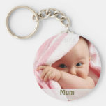 Baby Picture For Mum, Key Ring Gift Basic Round Button Key Ring