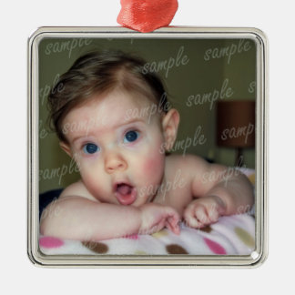 Baby Picture Frame Ornament With Ribbon