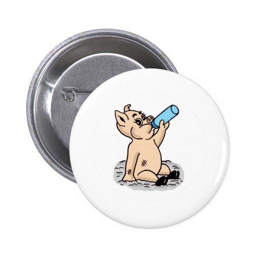 Baby Pig Cartoon Pins