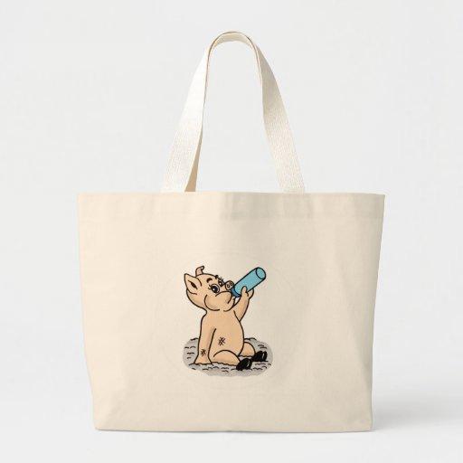 Baby Pig Cartoon Tote Bag