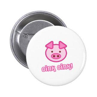 Baby Pig Cartoon Buttons