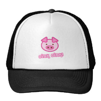 Baby Pig Cartoon Mesh Hats