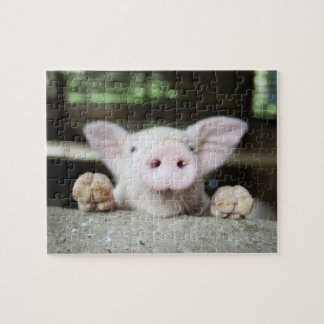 Baby Pig in Pen, Piglet Jigsaw Puzzle