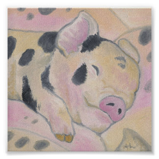 Baby Piglet art print poster