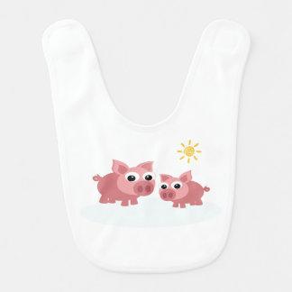 Baby pigs bibs