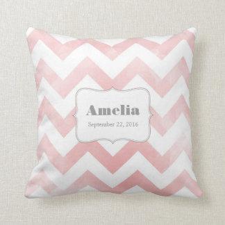 Baby Pillow - pink chevron pattern Cushion