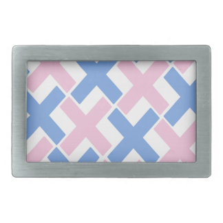 Baby Pink and Blue Xs Belt Buckles