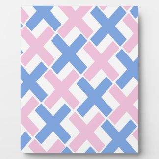 Baby Pink and Blue Xs Plaque