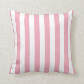 Baby Pink and White Stripes Pillow