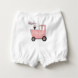 Baby Pink Caboose Train Nappy Cover