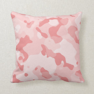Baby Pink Camo; Camouflage Cushion