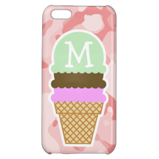 Baby Pink Camo; Ice Cream Cone iPhone 5C Covers