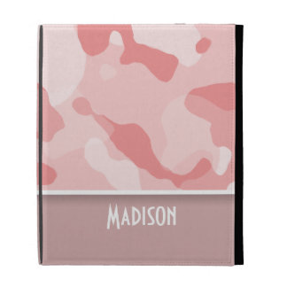 Baby Pink Camo; Personalized iPad Case
