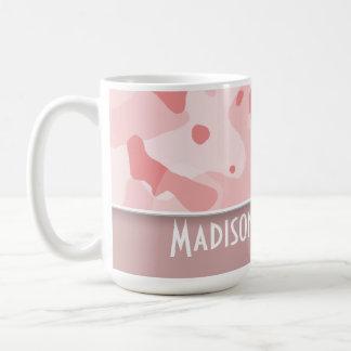 Baby Pink Camo; Personalized Classic White Coffee Mug