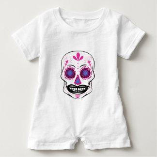 Baby Pink Candy Skull Romper Baby Bodysuit
