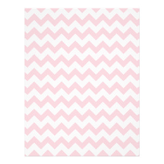 Baby Pink Chevron 21.5 Cm X 28 Cm Flyer