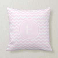 Baby Pink Chevron Customised Monogram