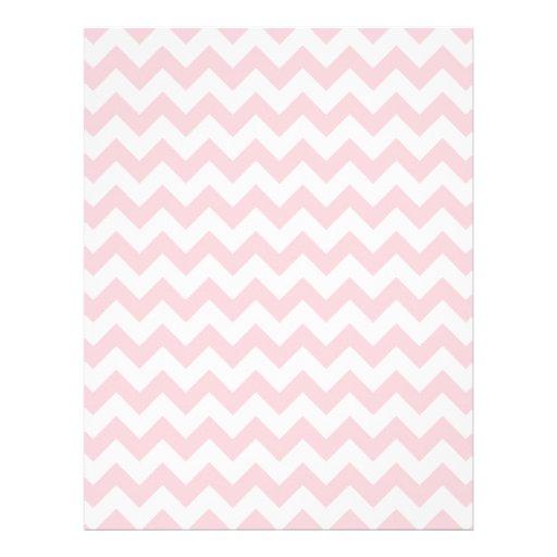 Baby Pink Chevron Flyer Design