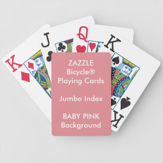 BABY PINK Custom Bicycle Jumbo Index Playing Cards