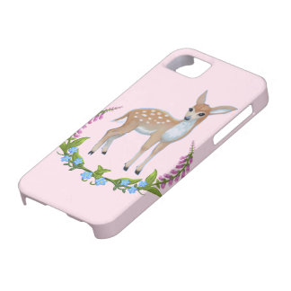 baby pink Cute Fawn Iphone case