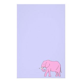Baby Pink Elephant Walking Stationery