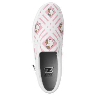Baby Pink English Bulldog Slip-On Shoes
