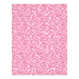 Baby Pink Glitter Printed Flyers