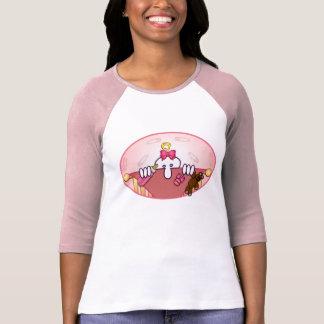 Baby Pink Kilroy 3/4 Sleeve Raglan T-Shirt