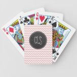 Baby Pink, Light Pink Chevron Stripes; Chalk Card Decks