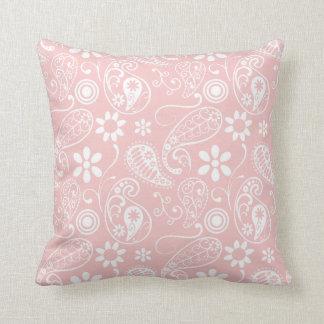 Baby Pink Paisley Cushion